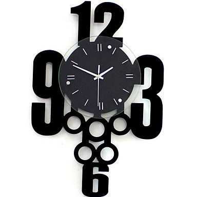 Modern / Contemporary PVC Round Indoor,5W Wall Clock