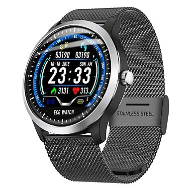 Indear N58 Smart Bracelet Smartwatch Android iOS Bluetooth Sports Waterproof Heart Rate Monitor Blood Pressure Measurement Touch Screen ECG+PPG Pedometer Call Reminder Activity Tracker Sleep Tracker