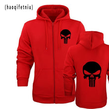 the punisher Skull hoodies men zipper fitness casual fleece jacket harajuku sweatshirts drake streetwear hoody homme m-2XL