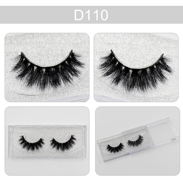 7960ca937d1 ... LEHUAMAO False Eyelashes 3D Mink Lashes Fluffy Thick HandMade Full  Strip Lashes Cruelty Free 3D Mink ...