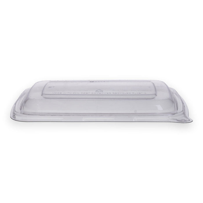 Couvercle en plastique RPET rectangle 17,2x23,2x2,2 cm transparent