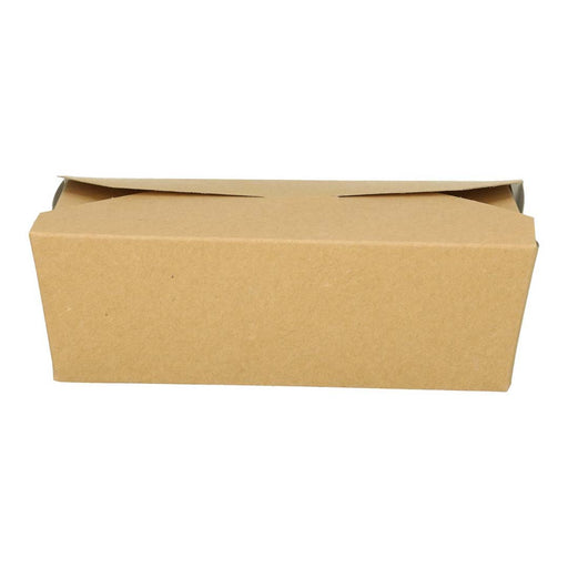 Plateau en carton blanc Rectangle 19.7x14.x4 .8 cm brun kraft foldpack