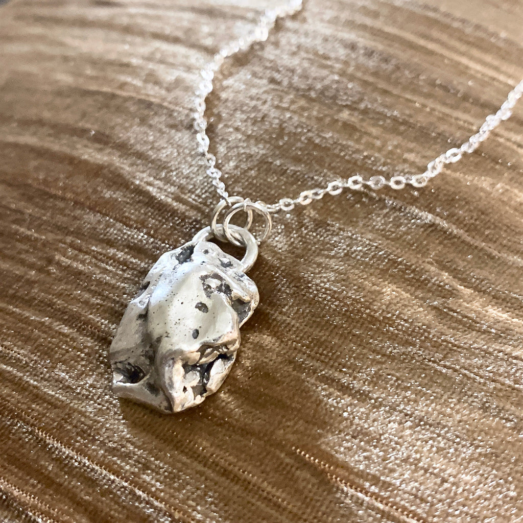 Silver Nugget Necklace with chain