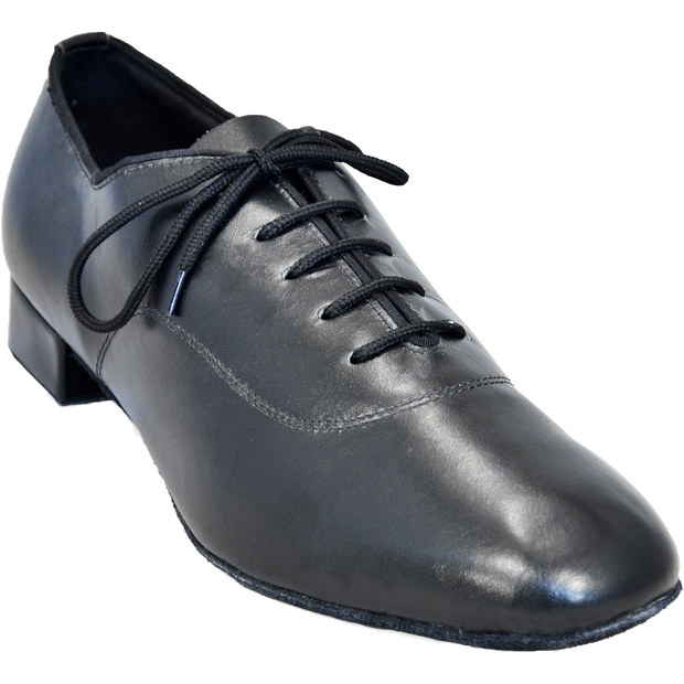 Comfort Balmoral - Black Leather - Low Heel