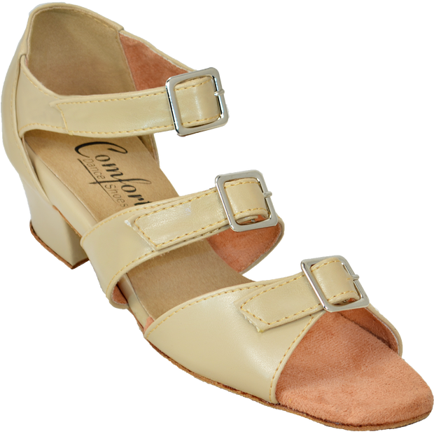 Comfort Triple Buckle - Tan Leather