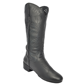 Ultimate - Women's Classic Country Boot - Black Leather