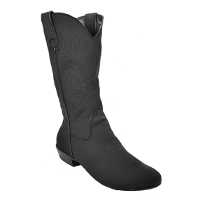 Ultimate - Men's Classic Country Boot - Black Lycra