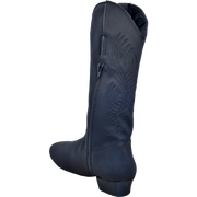 Ultimate - Womens Kissing Zipper Country Boot - Black Lycra
