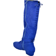 Ultimate Fashion Boot - Tall Lacey - Blue