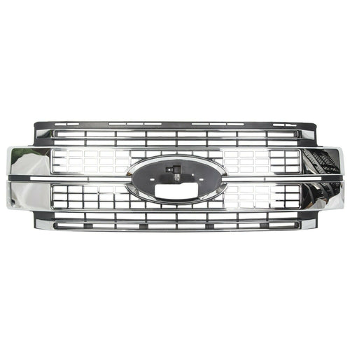 ET-096 For 17-19 Ford F-250 -F350 F-450 F-550 Super Duty Chrome Grille