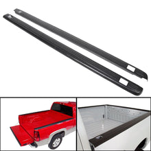 "Load image into Gallery viewer, AT-92 Black Bed Rail Caps for 1999-2006 Chevy Silverado / GMC Sierra 6'6"" Bed 7201151"