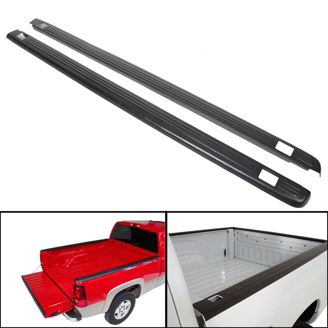 AT-92 Black Bed Rail Caps for 1999-2006 Chevy Silverado / GMC Sierra 6'6