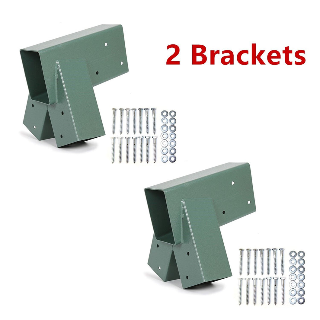 CA-85-P 2 Brackets Heavy Duty Steel 1-2-3 A-Frame Swing Pair Set Green Powder-Coated