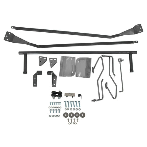 ET-107 1953 56 Ford F100 F-100 Truck Hood Tilt Flip Kit Stainless Combo Conversion Kit