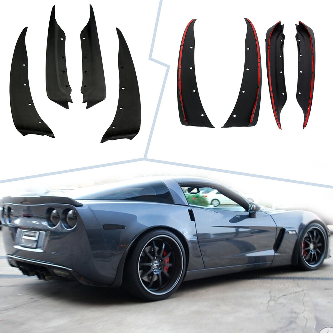 AT-27 Front And Rear Molded Splash Guards For 2005-2013 C6 Corvette