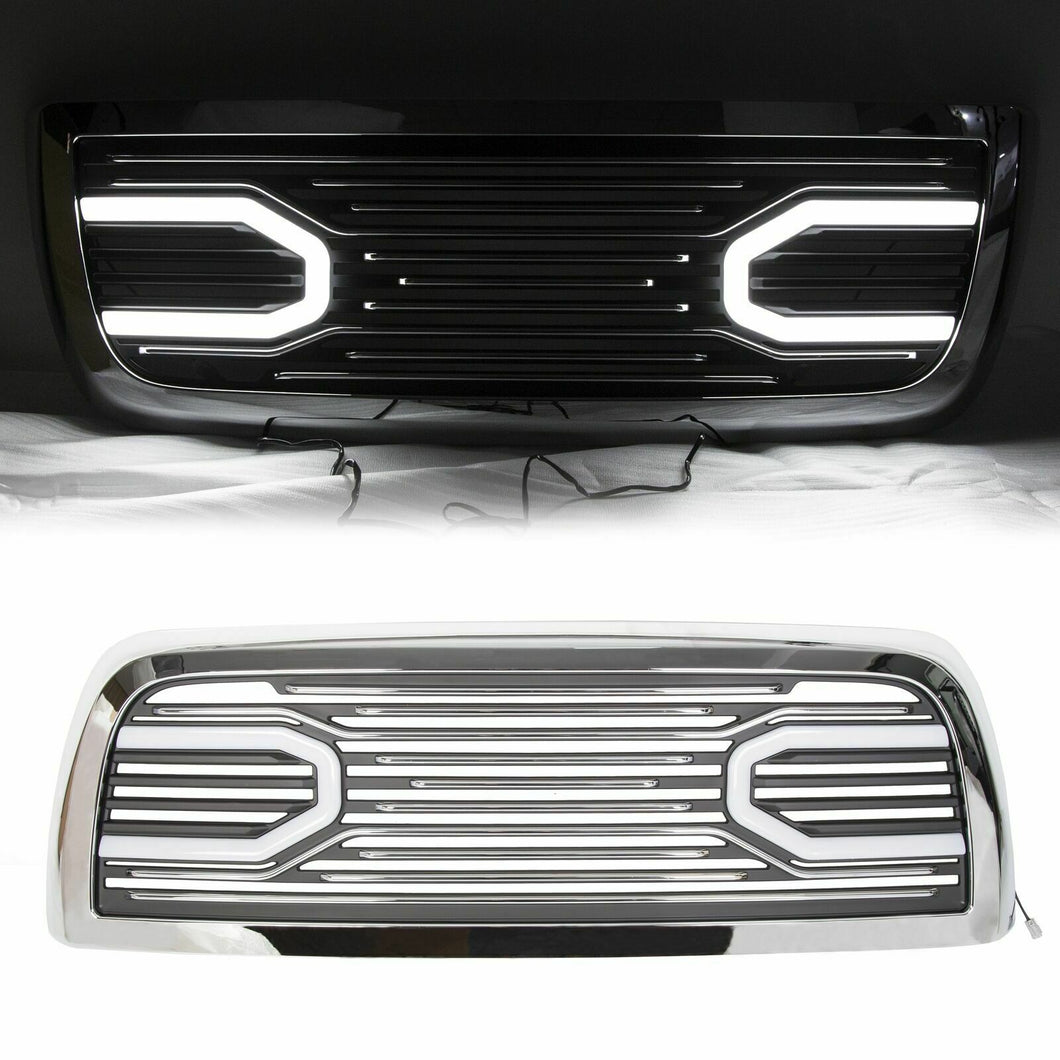 ET-139-L Big Horn Chrome Grille &Replacement Shell & Lights For 10-18 Dodge Ram 2500 3500