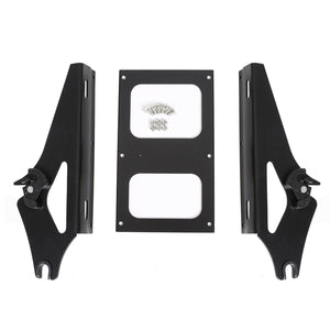 TU-10S-B Detachable Two-Up Tour Pack Pak Mounting Rack For Harley Touring 2014-2018