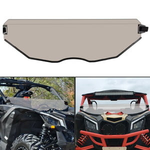 ET-081-5-SD Half Windshield Dark Tint Tinted For Can Am Maverick X3 Polycarbonate