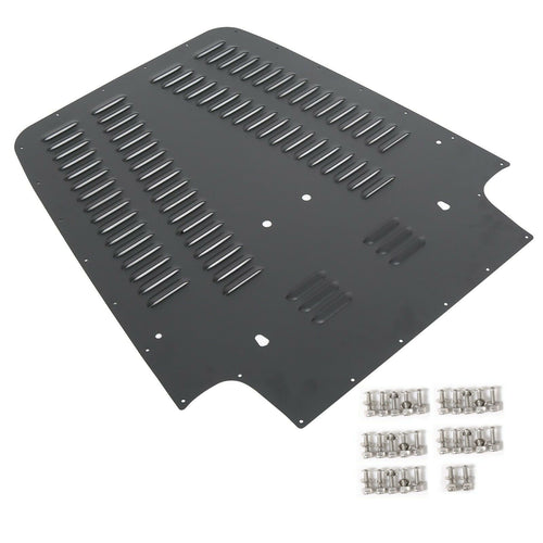 ET-004 97-02 Vented Hood Louver Aluminum Black Powder Coated For Jeep Wrangler TJ