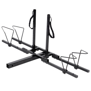 "New Heavy Duty 2 Bike Bicycle 2"" Hitch Mount Carrier Platform Rack Car Truck SUV"