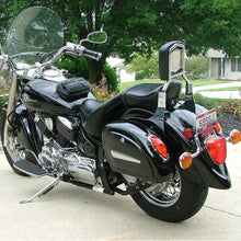 Load image into Gallery viewer, Black Hard Saddle Bag Trunk Luggage w/ Lights Mount Bracket Motorcycle Cruiser