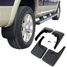 Load image into Gallery viewer, 2009-2018 Dodge Ram Truck 4Pcs Front+Rear Wheel Mud Guards Splash Flaps Kit