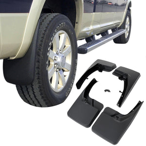 2009-2018 Dodge Ram Truck 4Pcs Front+Rear Wheel Mud Guards Splash Flaps Kit