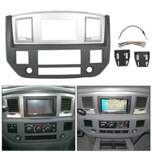 Load image into Gallery viewer, ET-160 Radio Double Din Dash Install Bezel Kit Silver Slate Grey Fits 2006-09 Dodge Ram