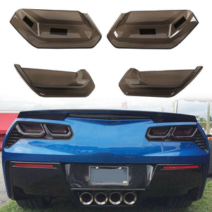 ET-390 For 2014-2019 C7 Corvette Rear Tail Light Blackout Kit 4PC Molded Smoked Acrylic