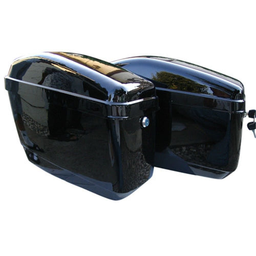 GA-B Motorcycle Hard Saddle Bags for Harley Davidson Sportster Softail suzuki Cruiser