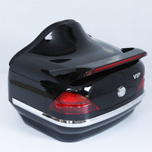 Load image into Gallery viewer, Black Motorcycle Trunk Luggage Case Tail Box Rack Backrest For Harley Touring