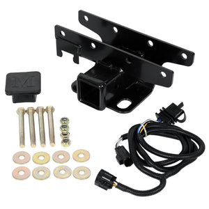 "CA-93 For 2007 - 2018 Jeep Wrangler Jk 2"" Trailer Tow Hitch Receiver & Wiring Harness"