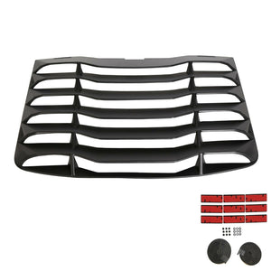 ET-031 Fits 03-08 Nissan 350Z IKON Matte Black Rear Windshiled Louvers Cover ABS