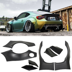 AT-91 Fits 2013-17 Scion FRS Subaru BRZ GR Style Fender Flare Cover- ABS
