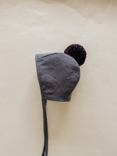 Load image into Gallery viewer, LINEN POMPOM BONNET | BLUEBIRD