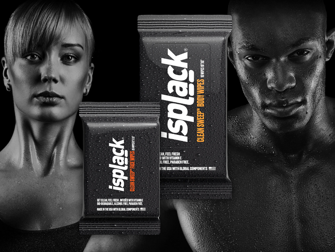 ISPLACK® CLEAN SWEEP™ FACE WIPES + BODY WIPES COMBO PACK