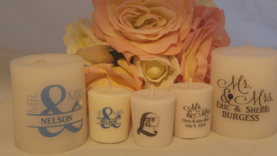 Custom Scented Candle Party Favors