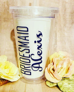 Custom Bridesmaid Cups (set of 6)