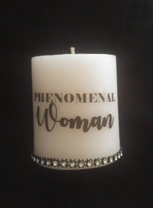 Phenomenal Woman Pillar Candle