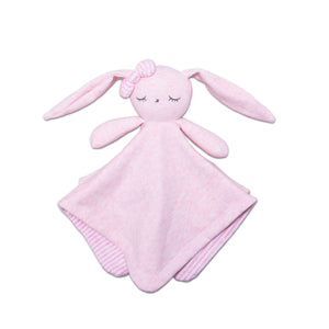 pink bunny lovey front
