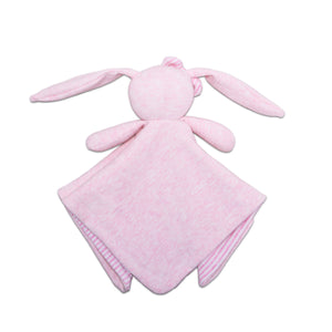 pink bunny lovey back