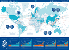 2016 Submarine Cable Map (free shipping)
