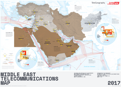 2017 Middle East Telecommunications Map (free shipping)