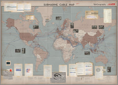 2017 Submarine Cable Map (free shipping)