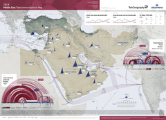 2014 Middle East Telecommunications Map