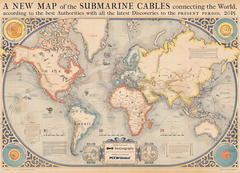 2015 Submarine Cable Map (free shipping)
