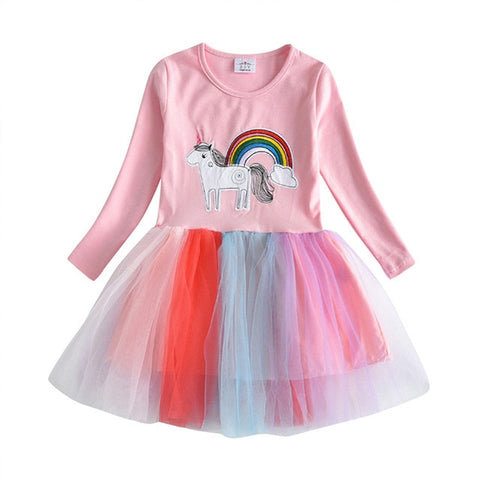 Lace Rainbow Unicorn Dress - Unicornia