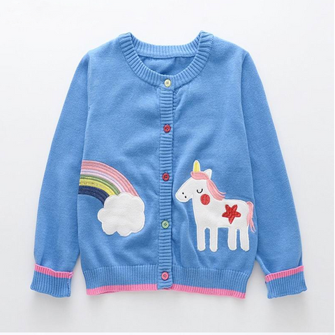 Rainbow Unicorn Kids Cardigan - Unicornia