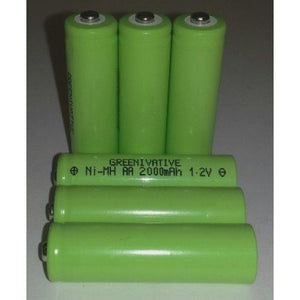 2000 mAh NiMh AA Rechargeable Batteries