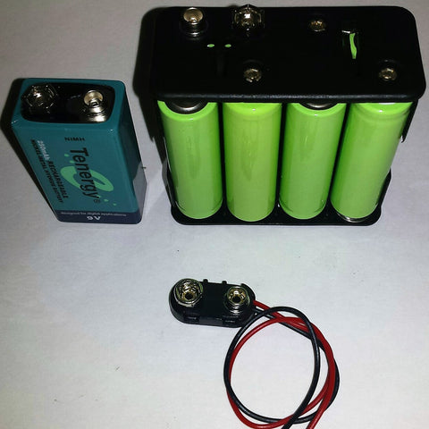 9V Battery Adapter with 8 2000 mAh AA Batteries and 9V Connector - Greenivative